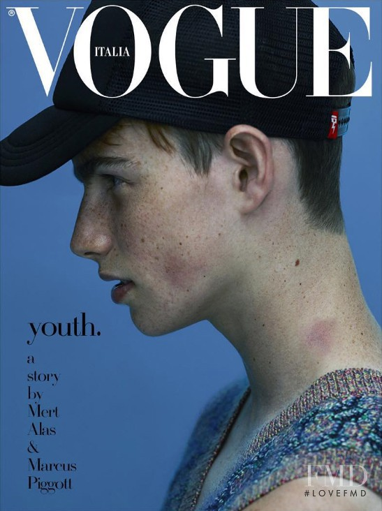featured on the Vogue Italy cover from October 2015