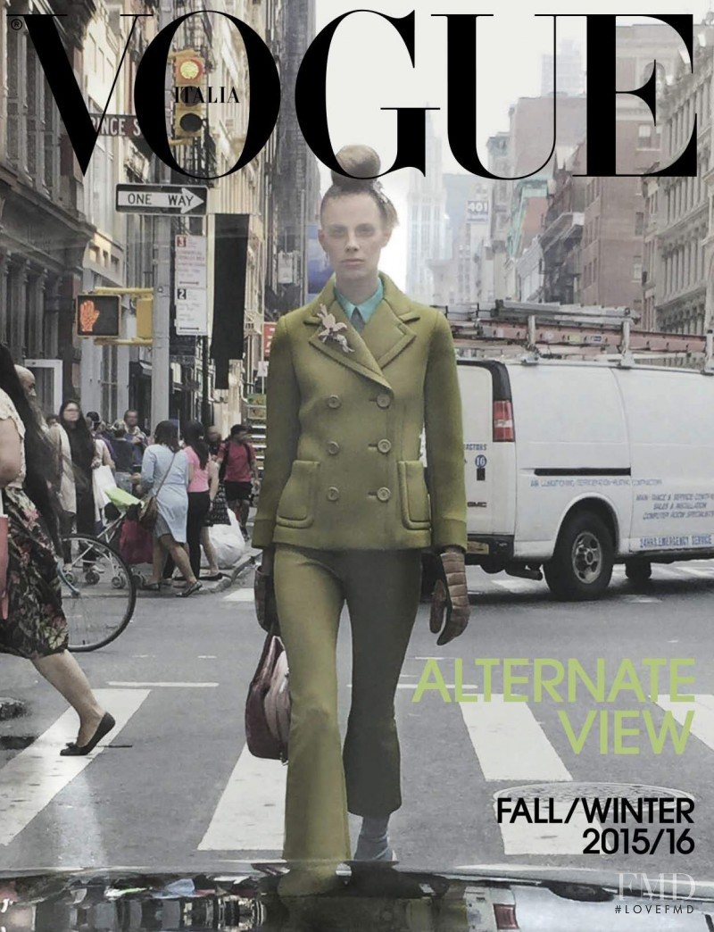 Lexi Boling featured on the Vogue Italy cover from September 2015