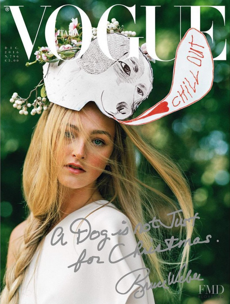 Jean Campbell featured on the Vogue Italy cover from December 2016