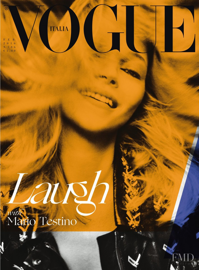 Kate Moss featured on the Vogue Italy cover from February 2016