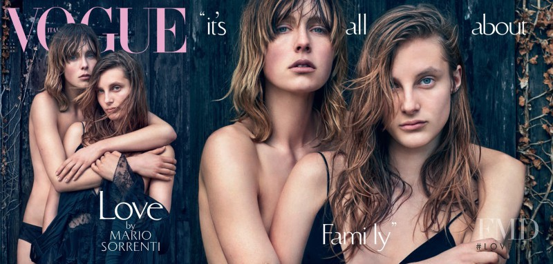Edie Campbell featured on the Vogue Italy cover from June 2016