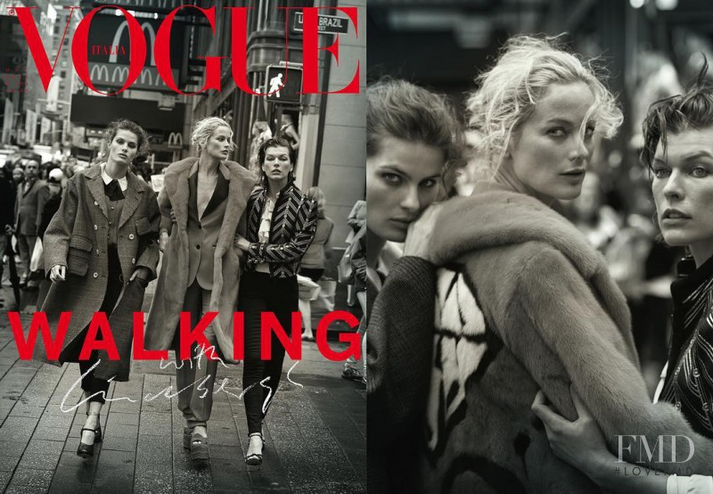 Carolyn Murphy, Isabeli Fontana, Milla Jovovich featured on the Vogue Italy cover from October 2016