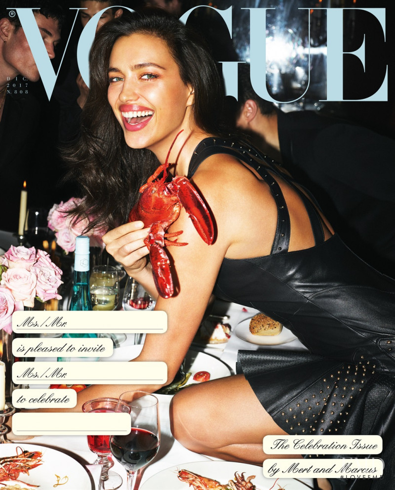 Irina Shayk featured on the Vogue Italy cover from December 2017