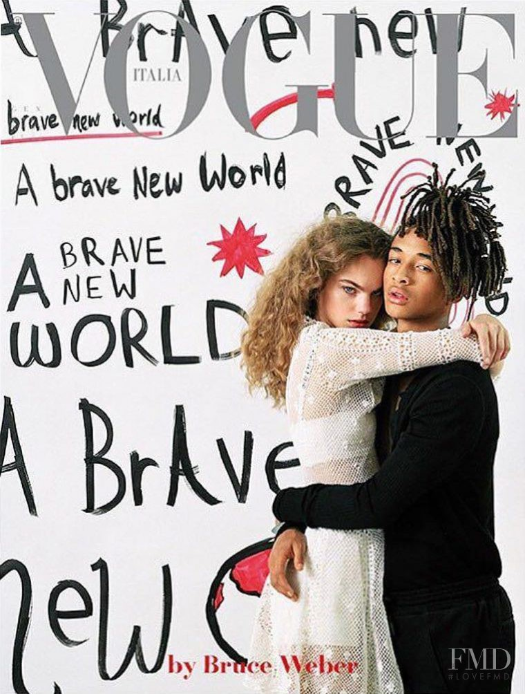 Estella Boersma featured on the Vogue Italy cover from January 2017