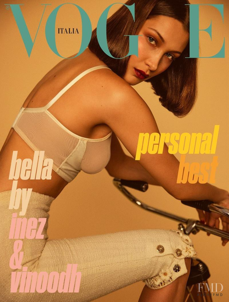Bella Hadid featured on the Vogue Italy cover from June 2017