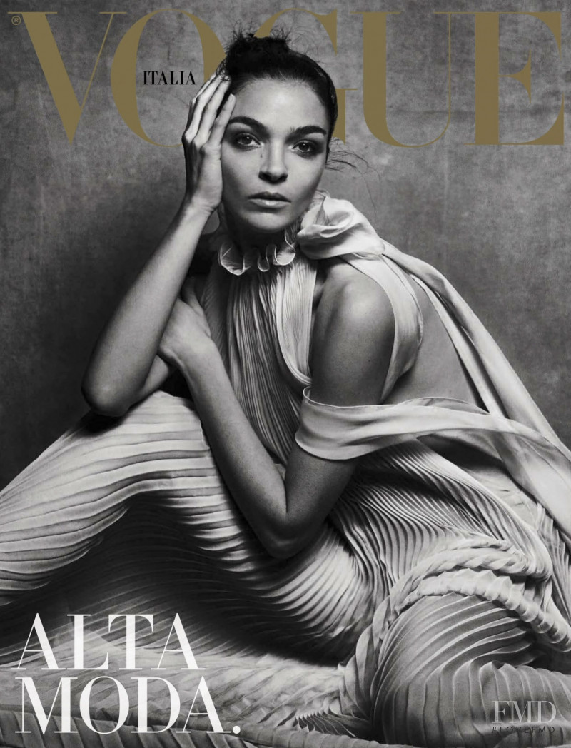 Mariacarla Boscono featured on the Vogue Italy cover from March 2017