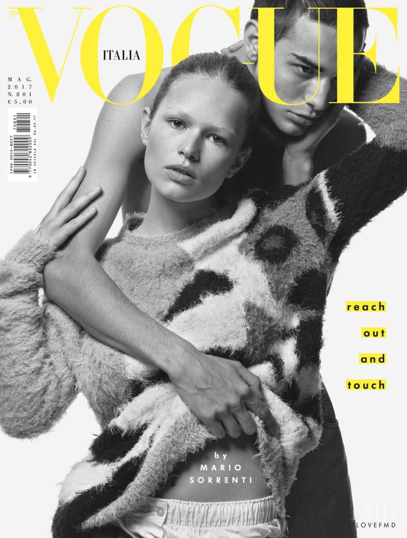 Anna Ewers featured on the Vogue Italy cover from May 2017