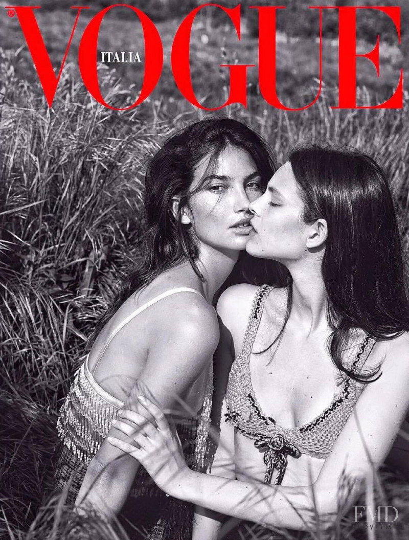 Lily Aldridge, Catherine McNeil featured on the Vogue Italy cover from September 2017