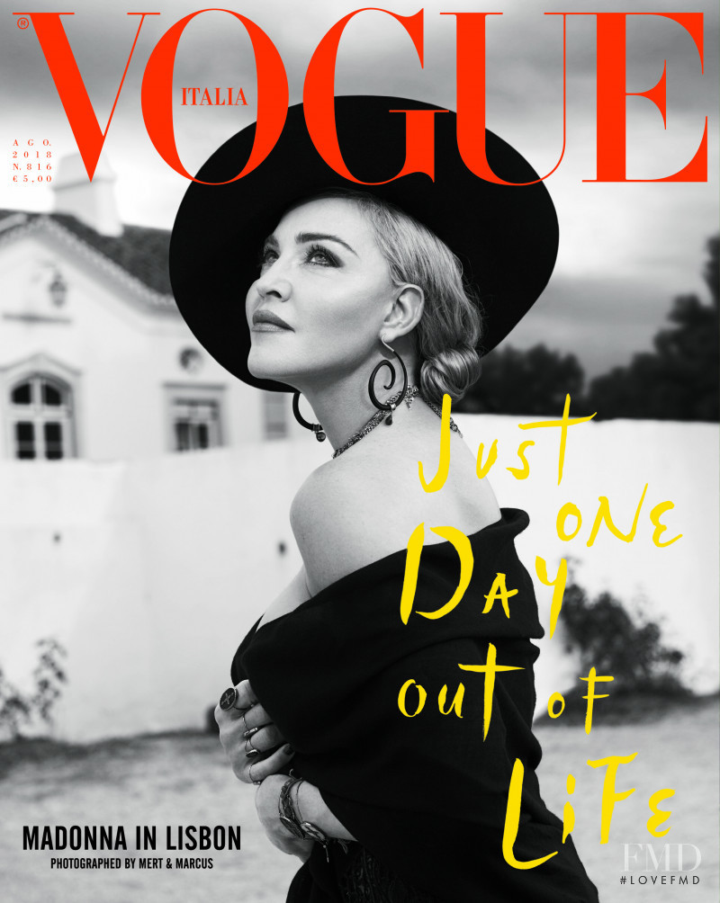 Madonna featured on the Vogue Italy cover from August 2018