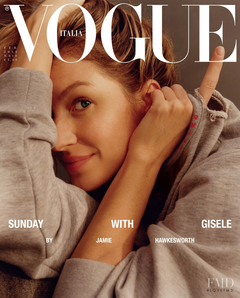 Gisele Bundchen featured on the Vogue Italy cover from February 2018