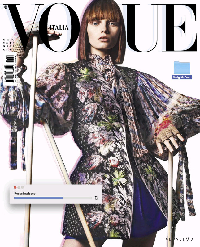 Fran Summers featured on the Vogue Italy cover from January 2018
