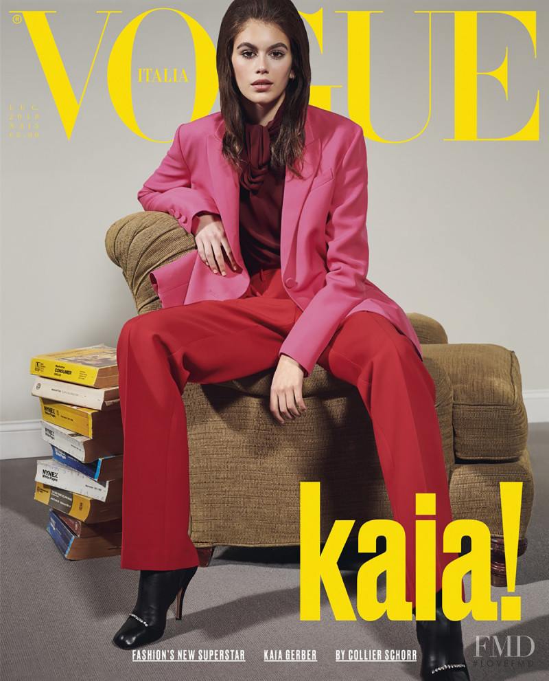 Kaia Gerber featured on the Vogue Italy cover from July 2018