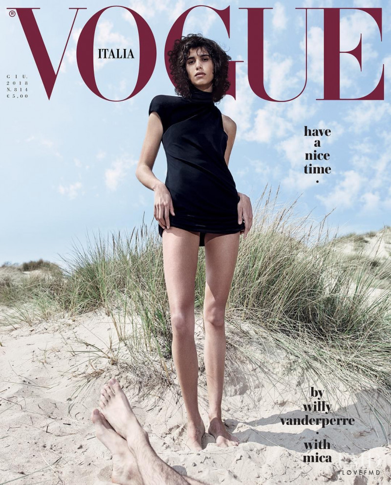 Mica Arganaraz featured on the Vogue Italy cover from June 2018