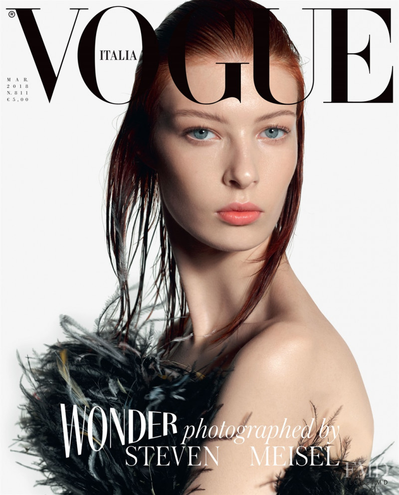 featured on the Vogue Italy cover from March 2018