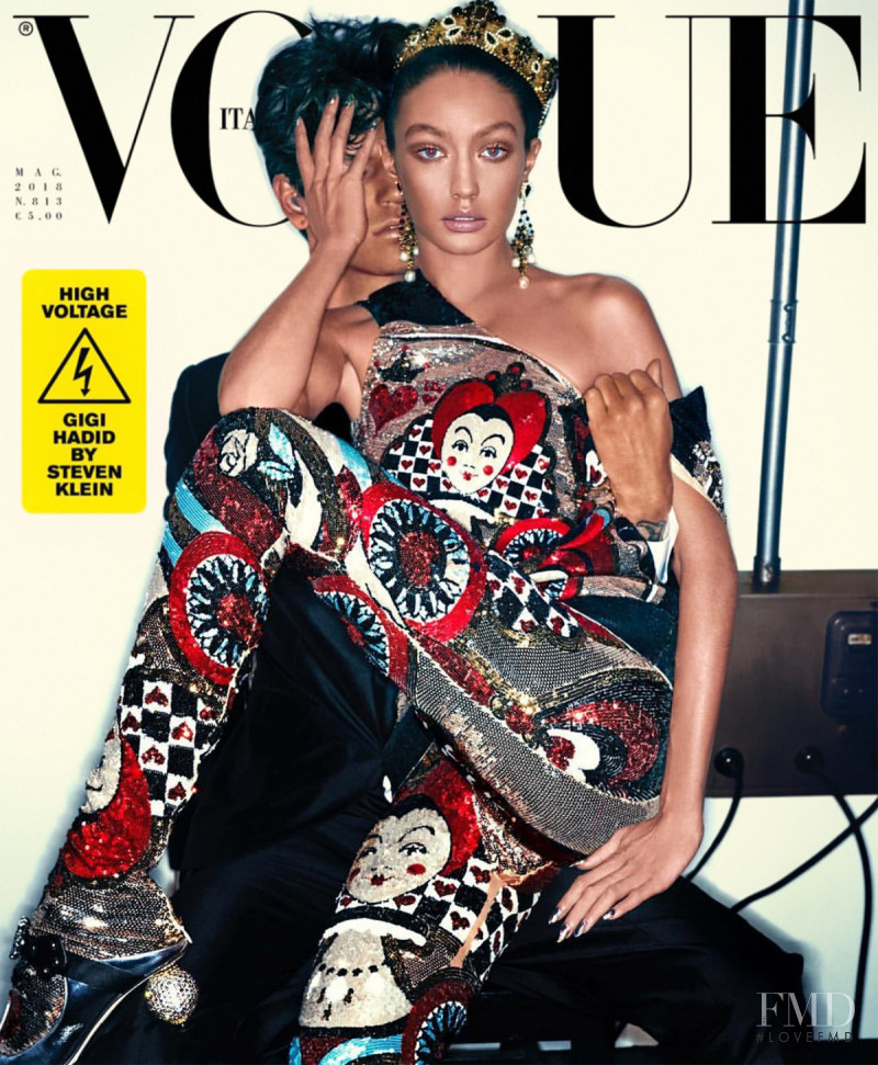 Gigi Hadid featured on the Vogue Italy cover from May 2018