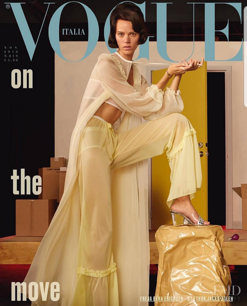 Freja Beha Erichsen featured on the Vogue Italy cover from November 2018