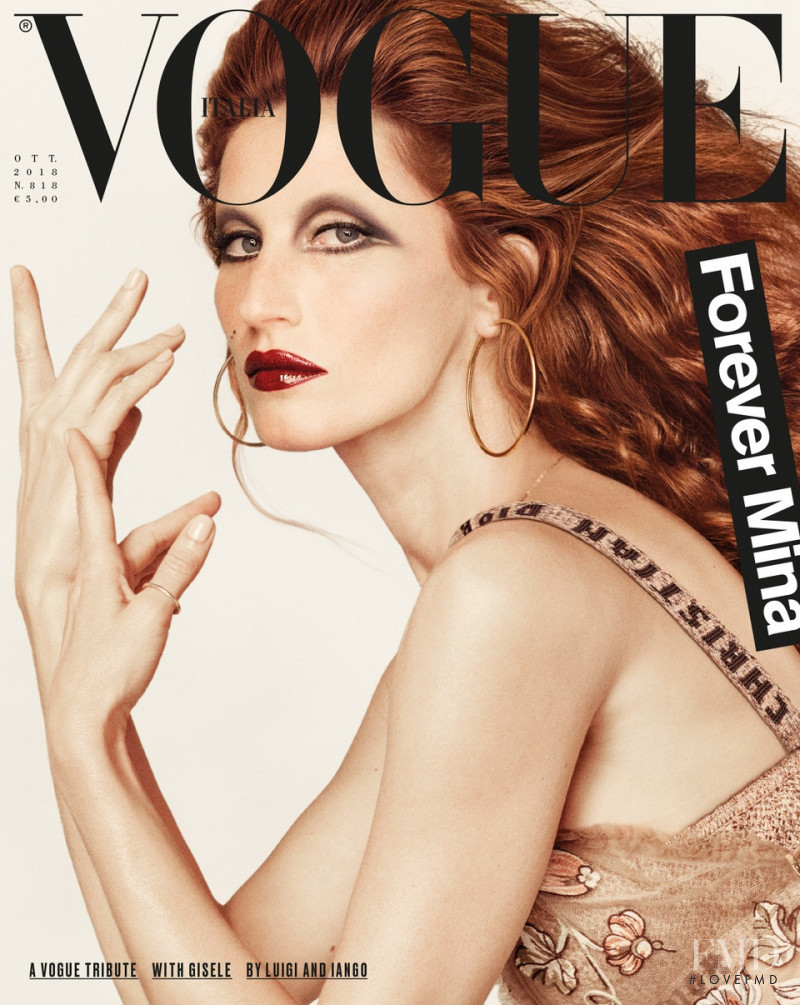 Gisele Bundchen featured on the Vogue Italy cover from October 2018