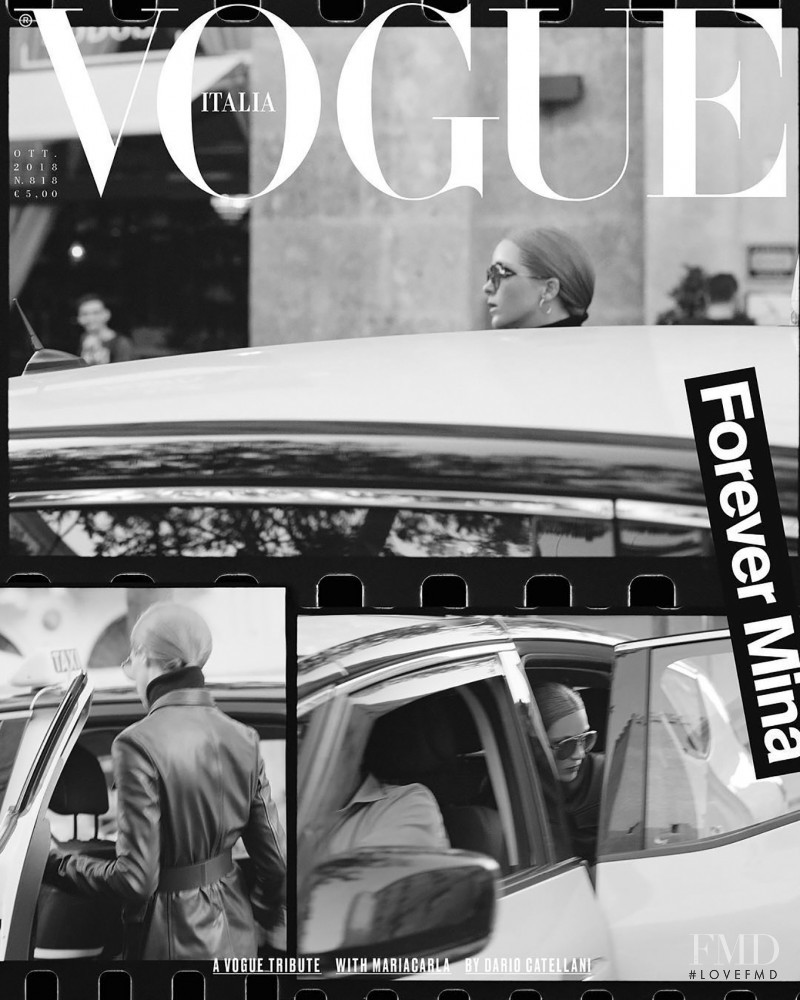Mariacarla Boscono featured on the Vogue Italy cover from October 2018