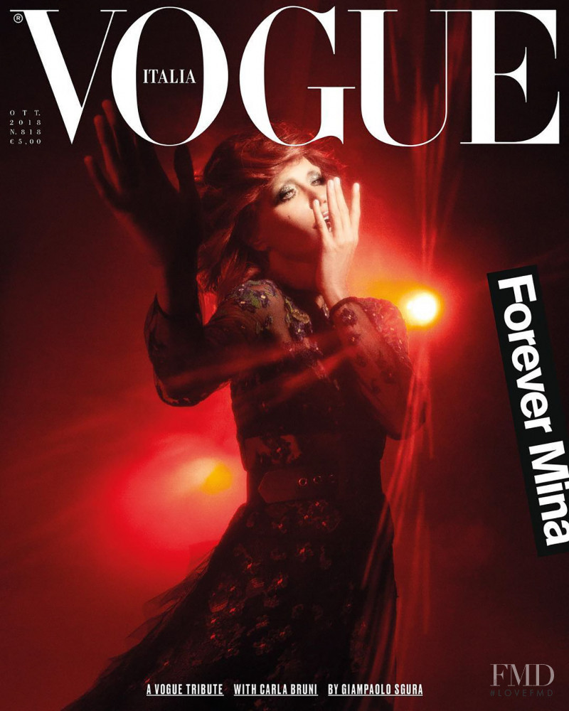 Carla Bruni featured on the Vogue Italy cover from October 2018