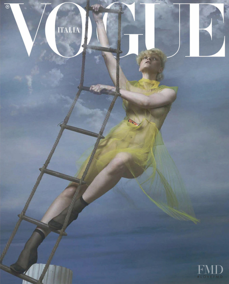 Guinevere van Seenus featured on the Vogue Italy cover from September 2018