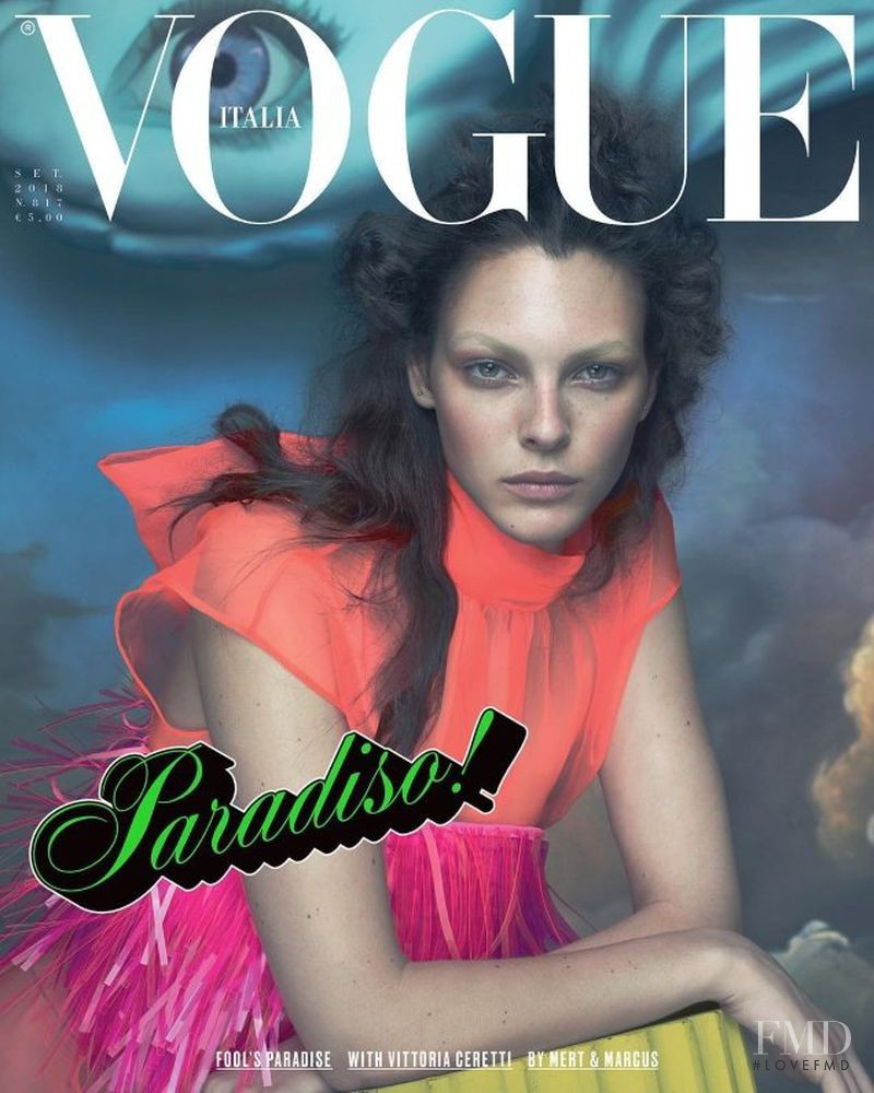Vittoria Ceretti featured on the Vogue Italy cover from September 2018