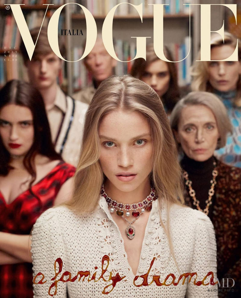 Nadja Auermann, Rebecca Leigh Longendyke, Meghan Roche featured on the Vogue Italy cover from December 2019