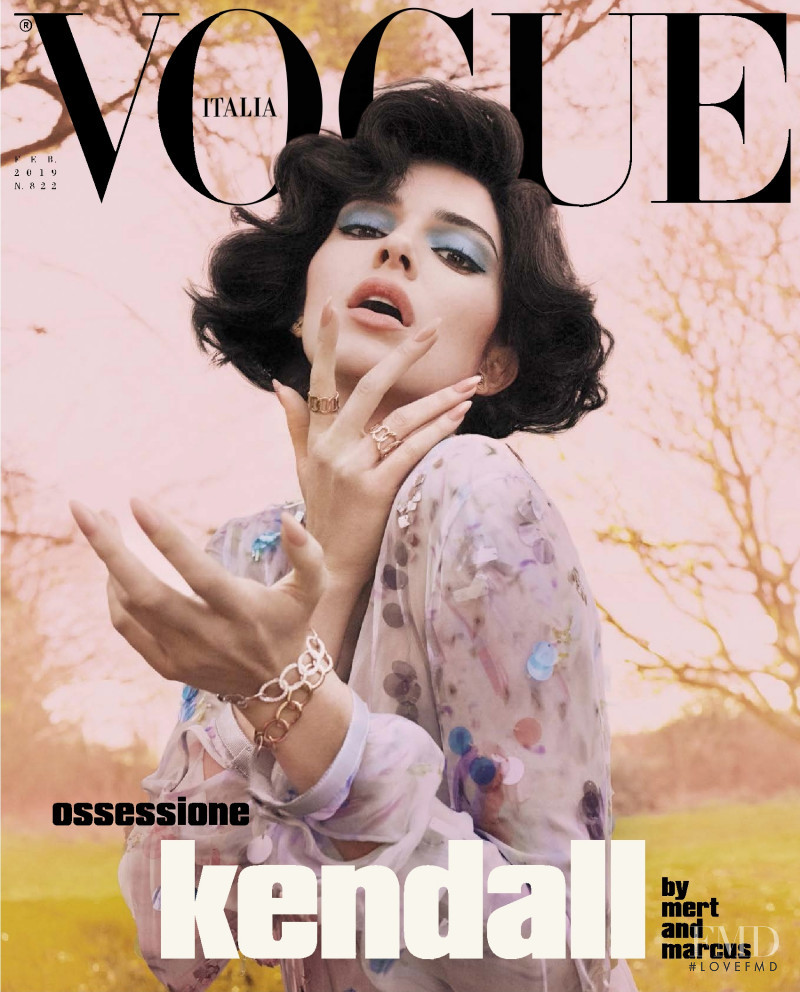 Kendall Jenner featured on the Vogue Italy cover from February 2019