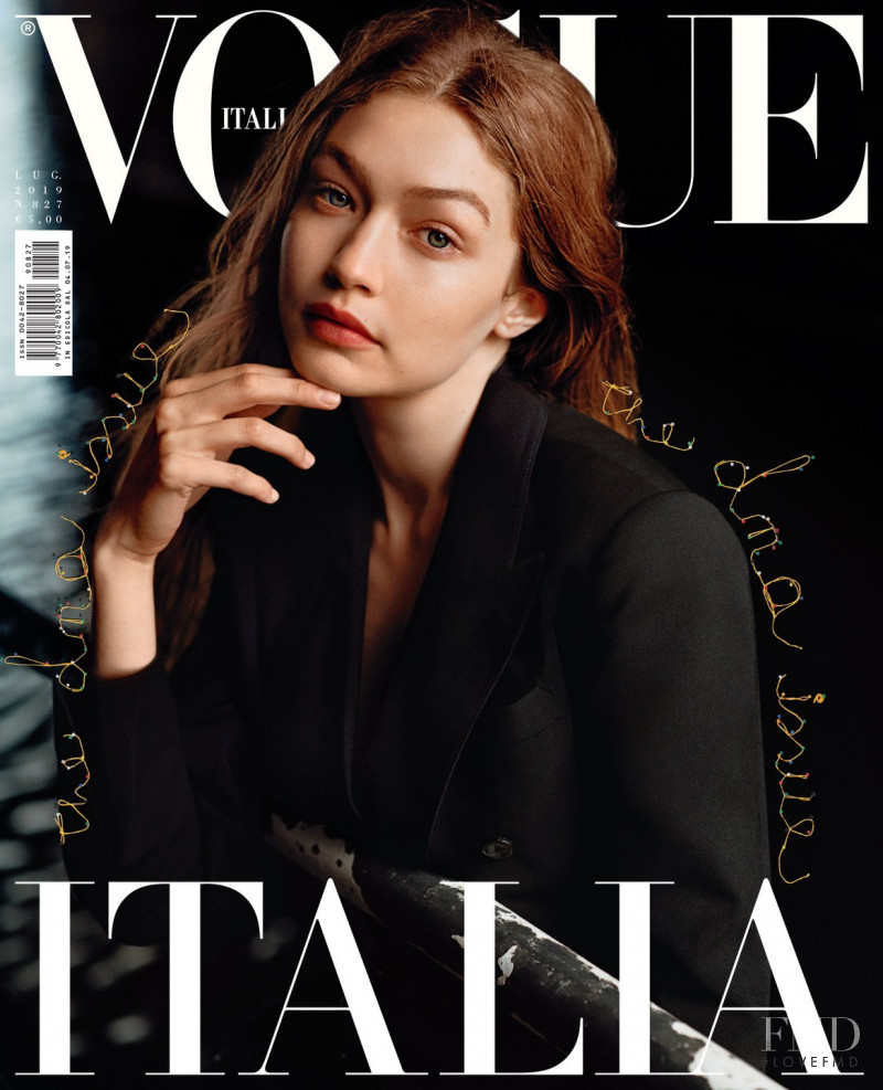 Gigi Hadid featured on the Vogue Italy cover from July 2019