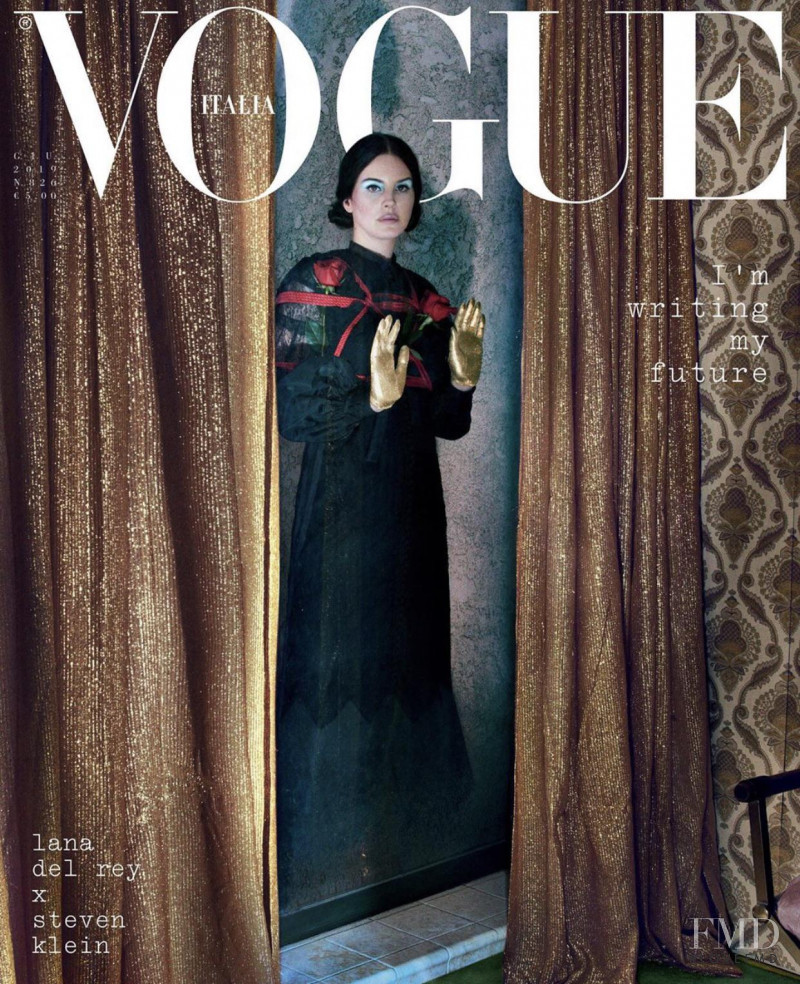 Lana Del Rey featured on the Vogue Italy cover from June 2019