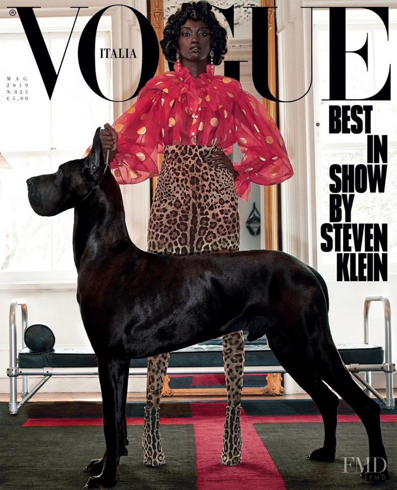 Anok Yai featured on the Vogue Italy cover from May 2019