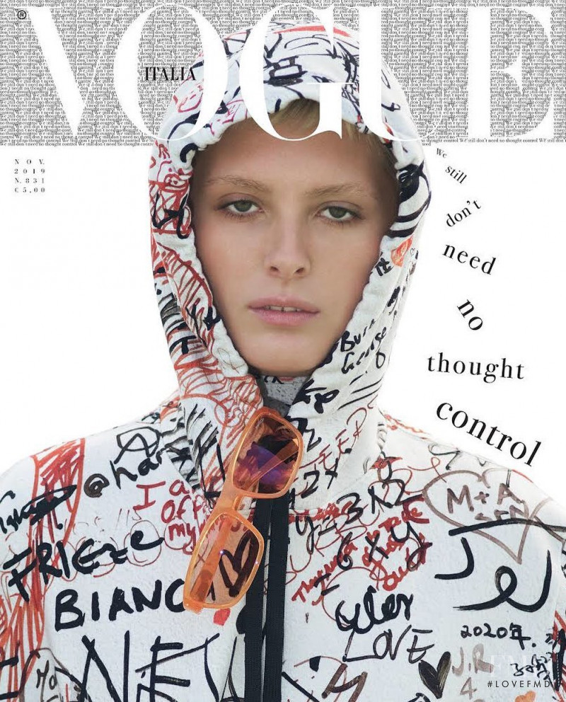 featured on the Vogue Italy cover from November 2019