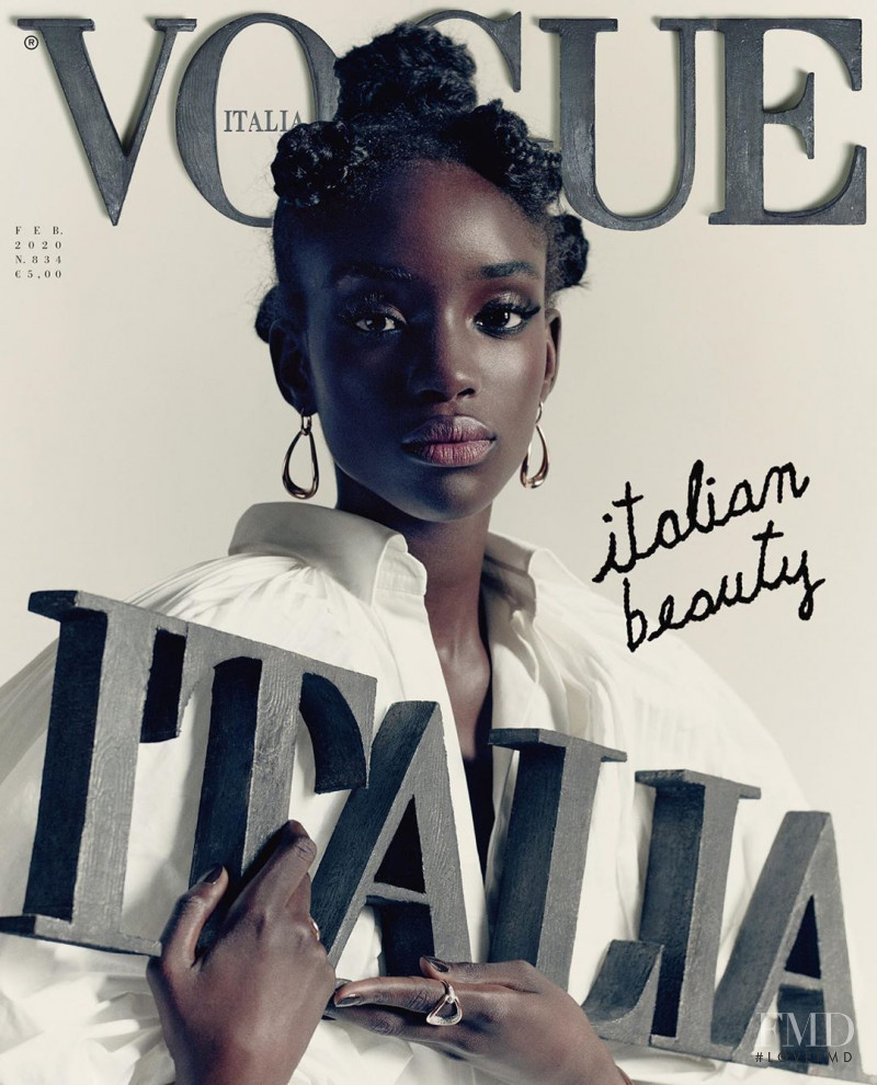 Maty Fall Diba featured on the Vogue Italy cover from February 2020