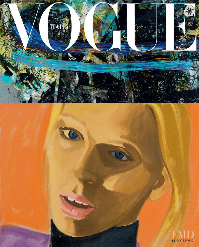 Lili Sumner featured on the Vogue Italy cover from January 2020