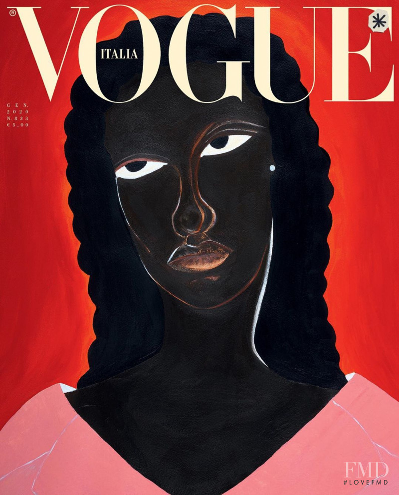 Assa Baradji featured on the Vogue Italy cover from January 2020