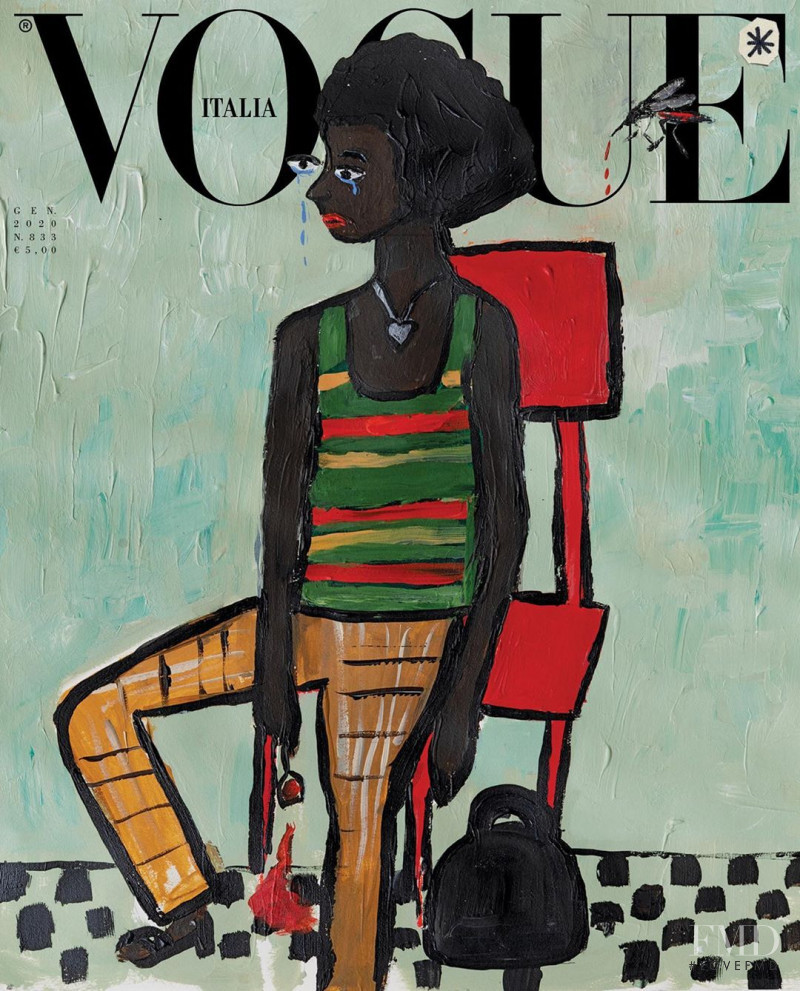 Ambar Cristal Zarzuela featured on the Vogue Italy cover from January 2020