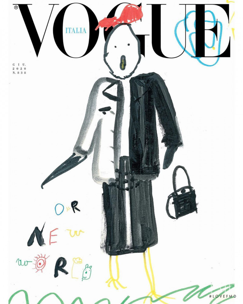 featured on the Vogue Italy cover from June 2020