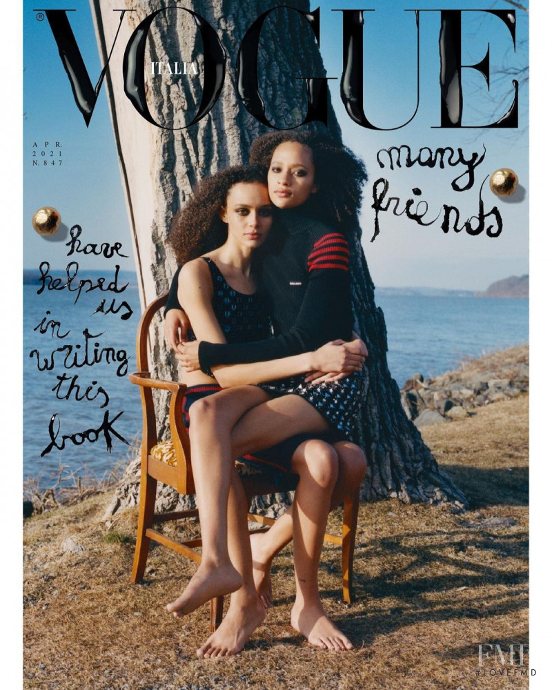 Binx Walton, Selena Forrest featured on the Vogue Italy cover from April 2021