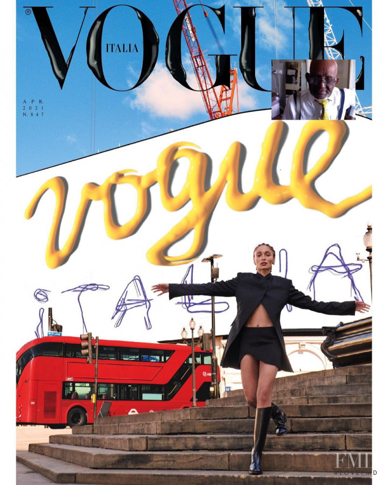 Adwoa Aboah featured on the Vogue Italy cover from April 2021