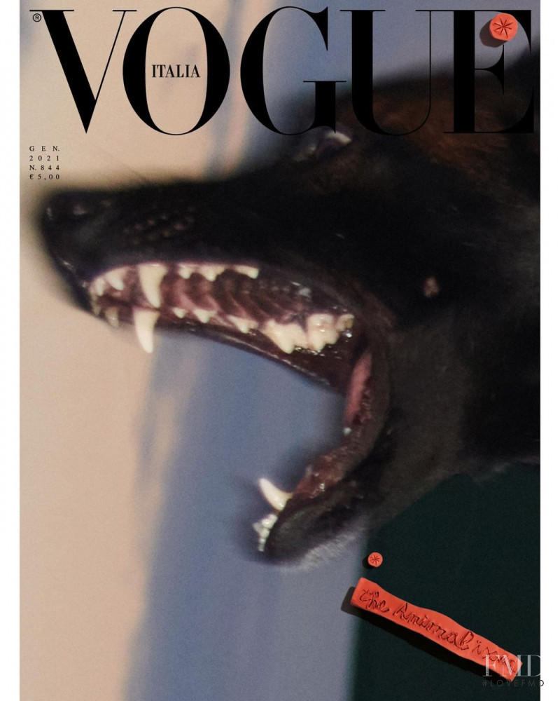 featured on the Vogue Italy cover from January 2021