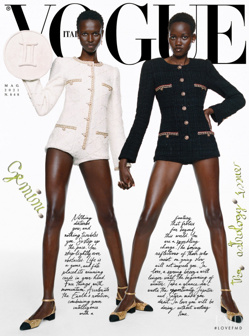 Caren Jepkemei, Amar Akway featured on the Vogue Italy cover from May 2021