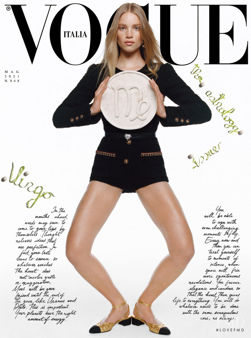 Rebecca Leigh Longendyke featured on the Vogue Italy cover from May 2021