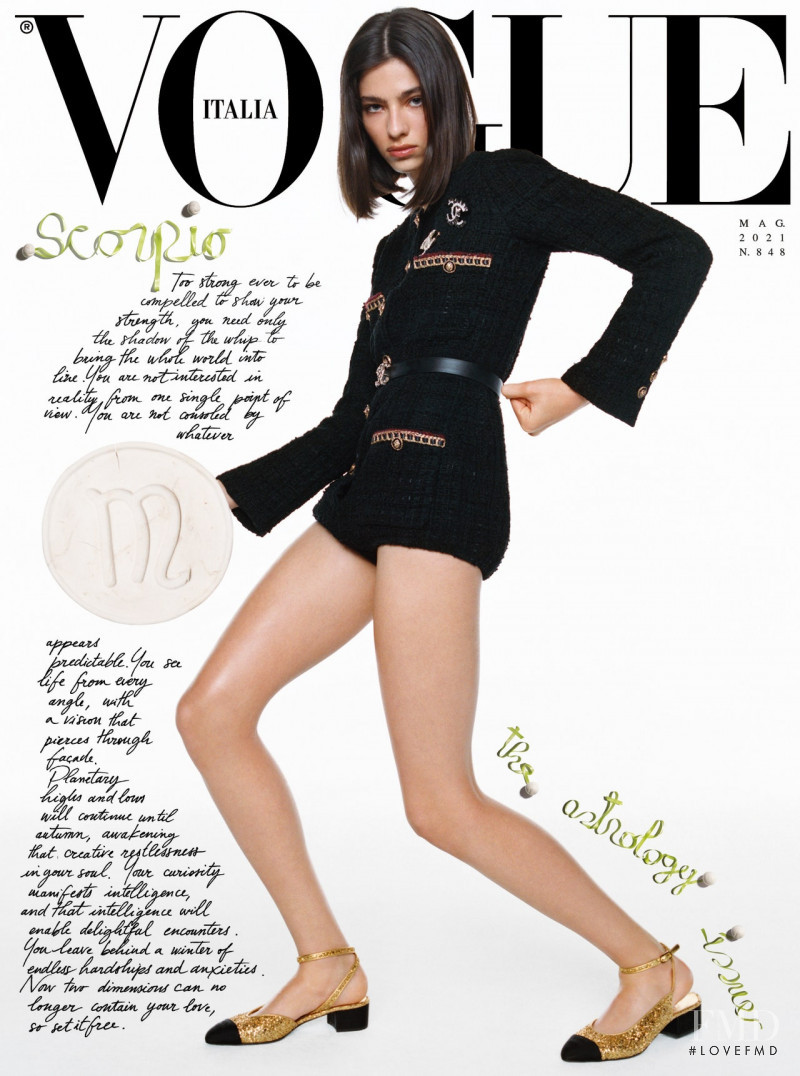 Loli Bahia featured on the Vogue Italy cover from May 2021
