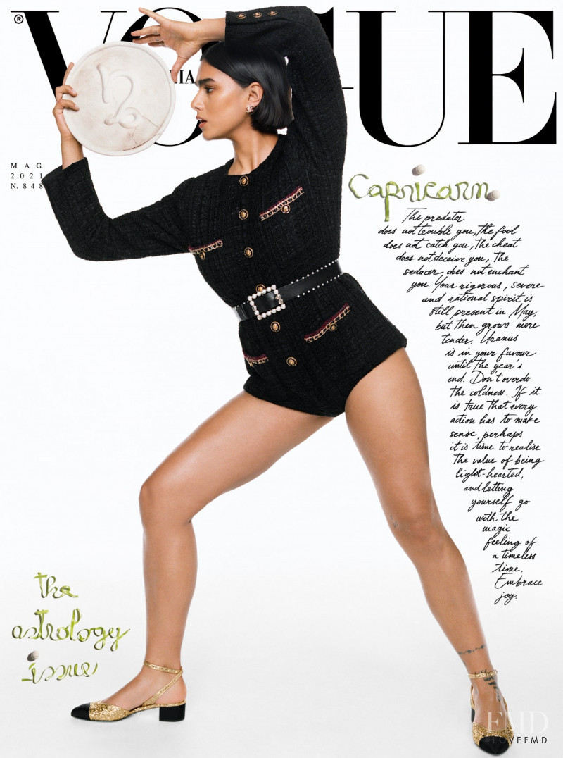 Jill Kortleve featured on the Vogue Italy cover from May 2021
