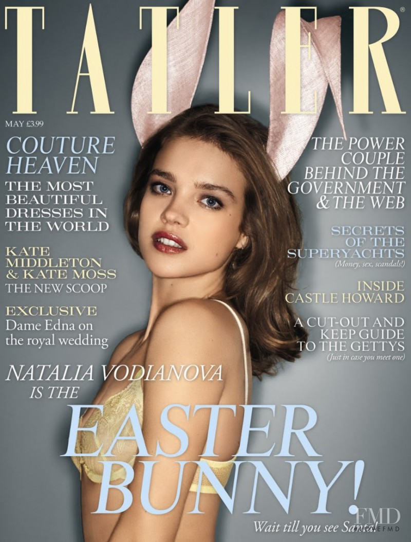 Natalia Vodianova featured on the Tatler UK cover from May 2011