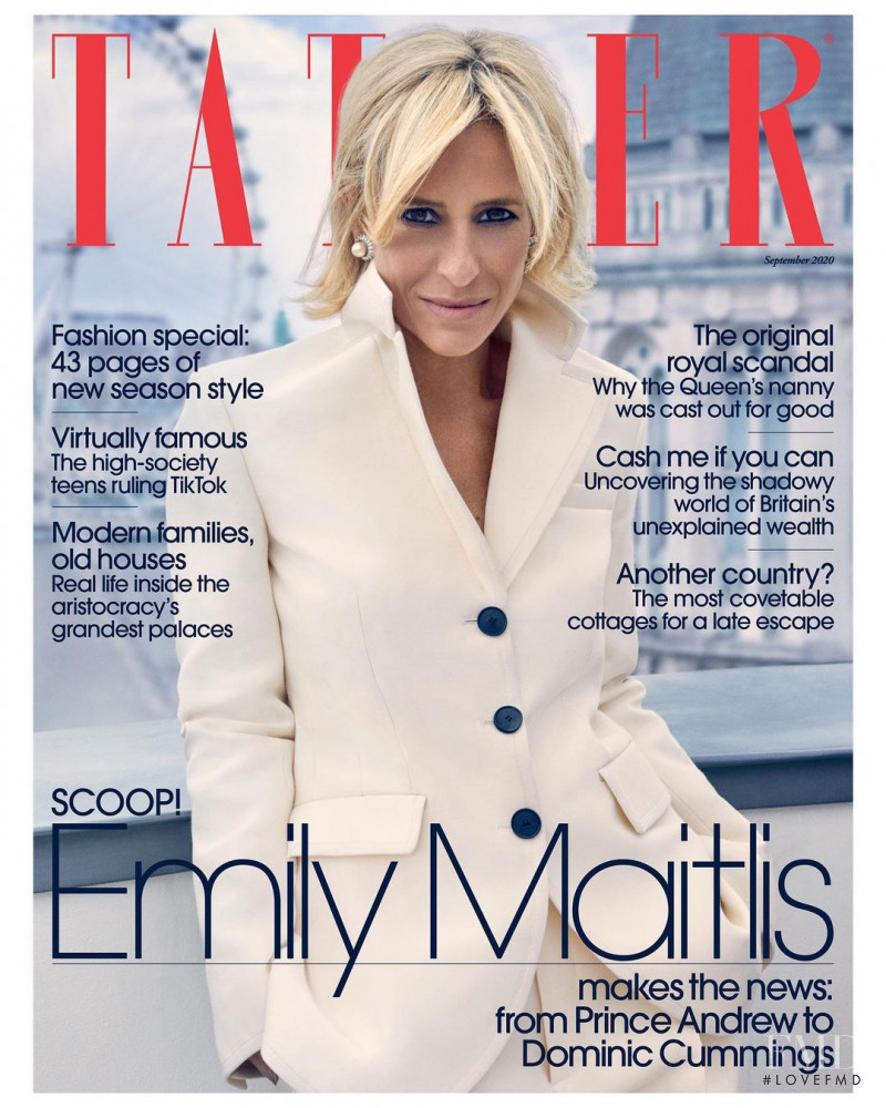 Emily Maitlis featured on the Tatler UK cover from September 2020