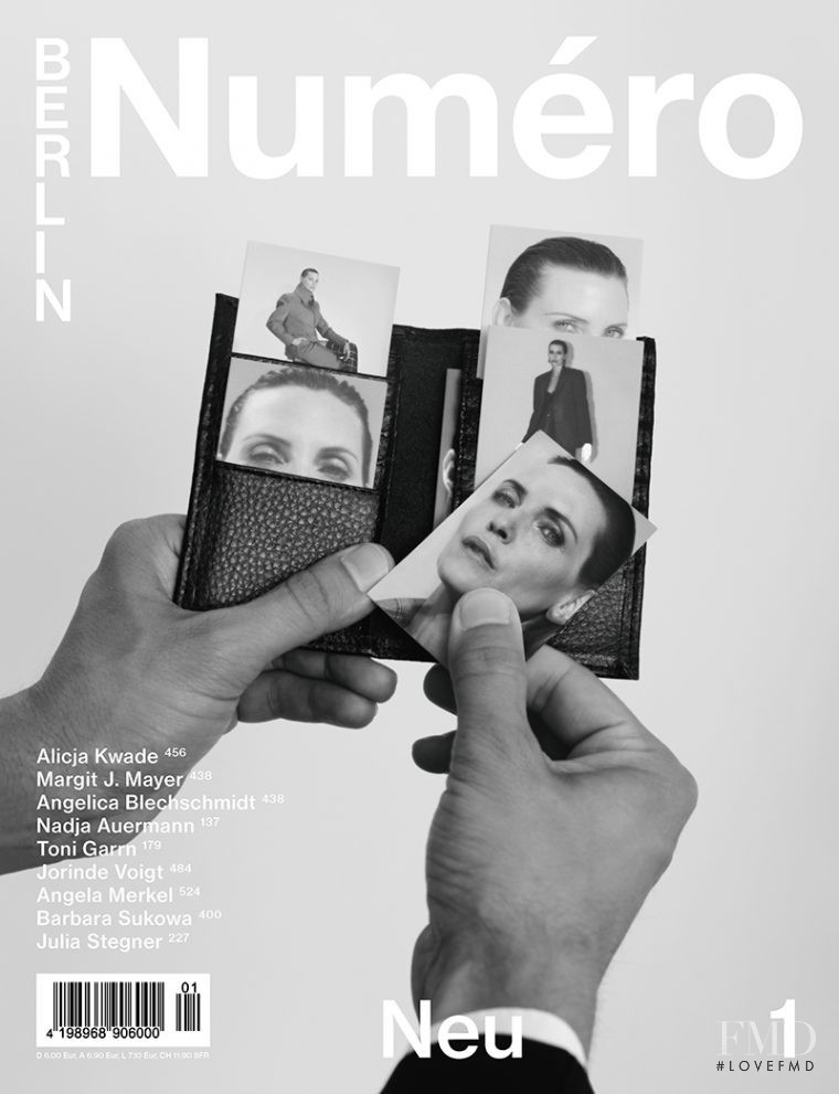 Nadja Auermann featured on the Numéro Berlin cover from January 2017