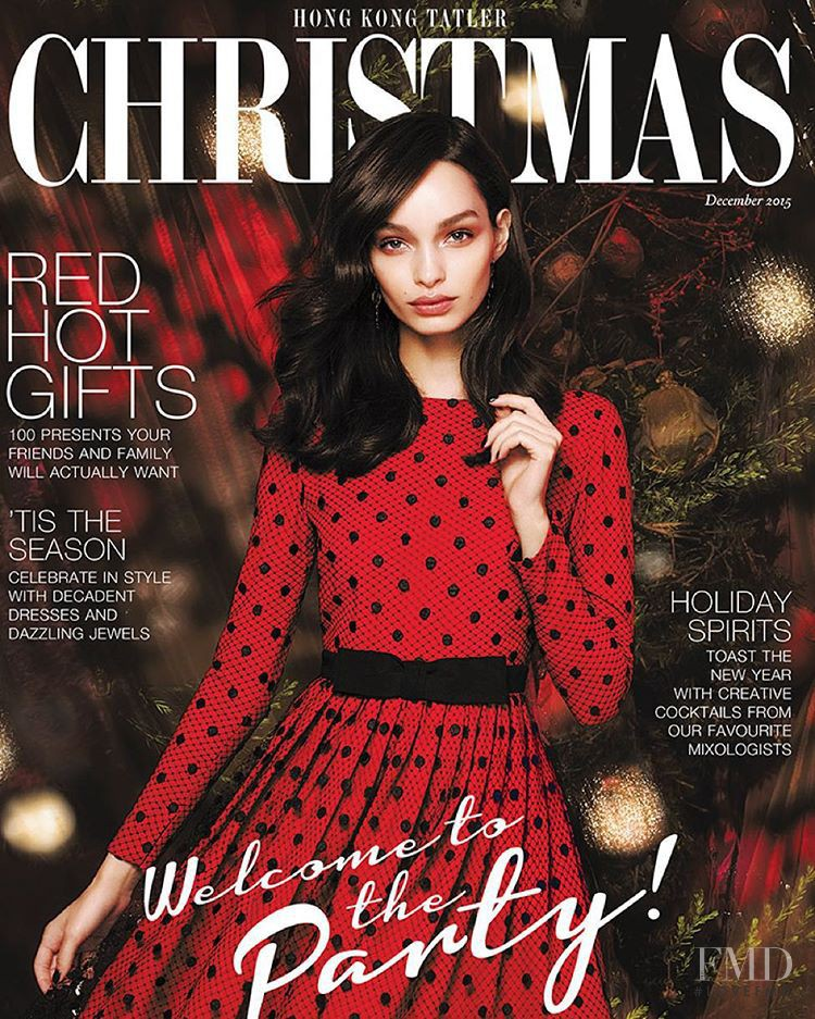 Luma Grothe featured on the Hong Kong Tatler cover from December 2015