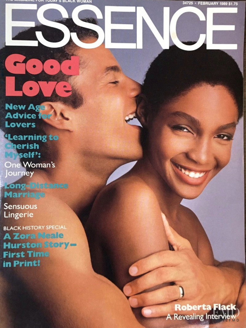 Roshumba Williams featured on the Essence cover from February 1989