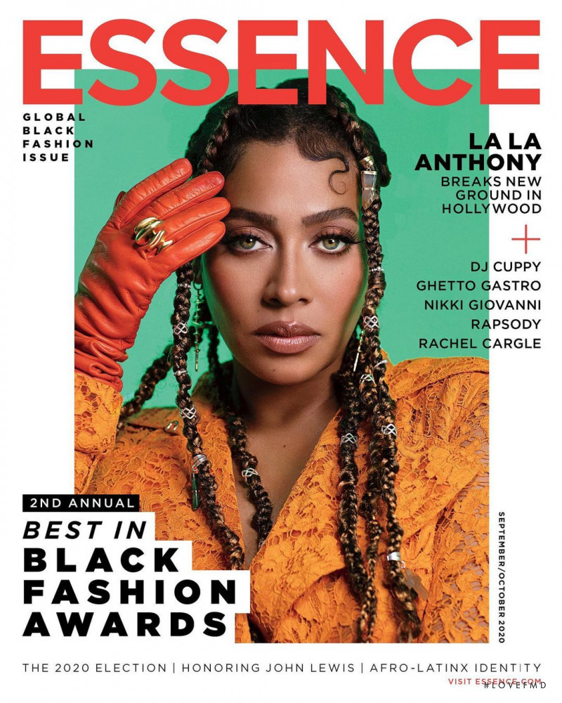 La La Anthony featured on the Essence cover from September 2020