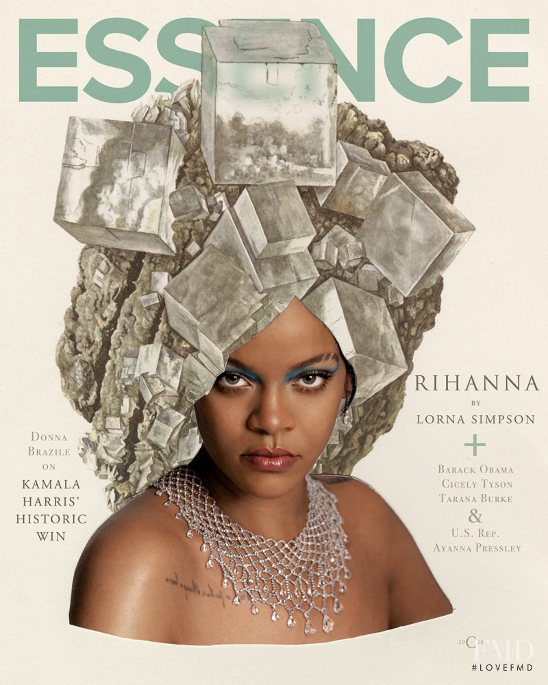 Rihanna featured on the Essence cover from January 2021